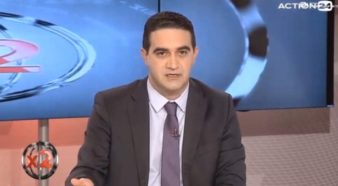 «Αφού τα στελέχη του ΣΥΡΙΖΑ δεν παραδέχονται τις τεράστιες ευθύνες της κυβέρνησης Καραμανλή, το κάνουν τουλάχιστον οι δημοσιογράφοι που στηρίζουν το ΣΥΡΙΖΑ».  Στο «X2» του ACTION24
